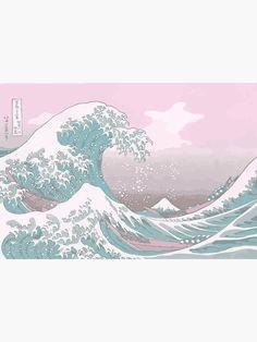 Poster «Pastel La Grande Vague au large de Kanagawa», par Freshfroot   Redbubble Waves Wallpaper, Aesthetic Desktop Wallpaper, Iphone Background Wallpaper, Butterfly Wallpaper, Pink Wallpaper, Screen Wallpaper, Great Wave Off Kanagawa, Animes Wallpapers, Cute Wallpapers