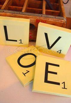 Scrabble Letters LOVE