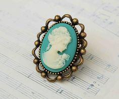 Aqua Cameo ring. Lovely.