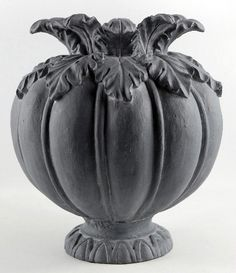Sculpted Resin Charcoal Pumpkin Planter Pot by WidowRaven on Etsy, $49.00