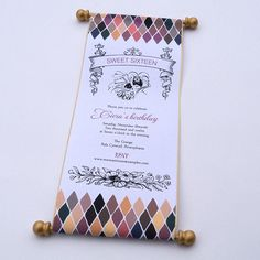 Masquerade ball birthday invitation scroll sweet sixteen mardi gras carnival - 10. $59.00, via Etsy.