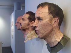 3D paper sculptures by Bert Simons