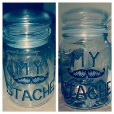 """""""My Stache"""" change jar"""