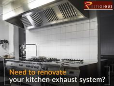 Need to renovate your kitchen exhaust system? Call us today! Kitchen Exhaust Cleaning, Exhausted, Restaurant, Restaurants, Dining Room