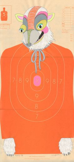 Jennifer Davis' shooting target series. She also has an Etsy shop--only $100 for an original work