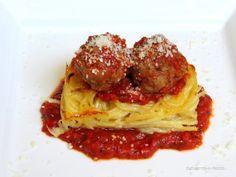 Rezepte mit Herz   ♥: Gebackene Spaghettis mit Meatballs