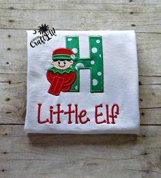 Christmas Tshirt, Elf on shelf,  Boys, Toddlers, Infants Shirt, Embroidered, Appliqued, Personalized
