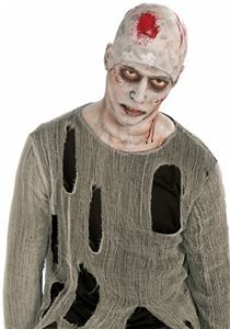 Bloody Horror Zombie Nail Through Head Prop Halloween Fancy Dress Costume Nailed