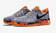 Nike Air Max Flyknit Grey Orange
