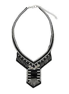 Dorothy Perkins Beaded Art Deco necklace