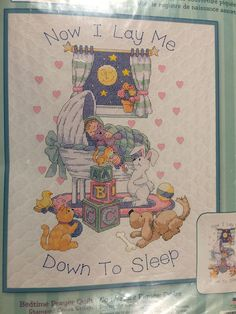 Cross Stitch Baby, Cross Stitch Kits, Baby Crib Bedding, Quilt Kits, Fabric Patterns, Baby Quilts, Quilting, Stamp, Ebay