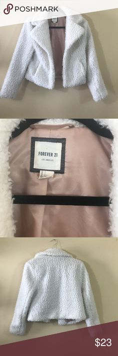 Forever 21 Fluffy Coach Size Small Forever 21 Fluffy Coach Size Small. Book and Loop Closure. Forever 21 Jackets & Coats