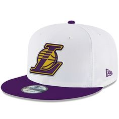 e6a06bd2 Men's Los Angeles Lakers New Era White/Purple Classic 9FIFTY Adjustable Snapback  Hat, Your Price: $34.99