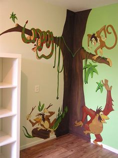 Muurschildering jungle book