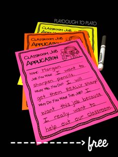 A free must have for back to school this fall with first grade and second grade! A great way to help kids create community and a sense of responsibility in the classroom by thinking about what kind of job they want to have. Classroom Job Application, Classroom Jobs, 3rd Grade Classroom, Classroom Behavior, Future Classroom, Classroom Organization, Classroom Management, Classroom Environment, Classroom Crafts