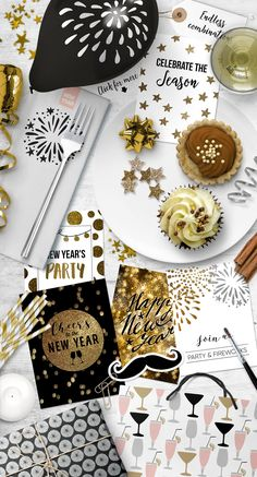 New Year's  party set by Tabita's shop on @creativemarket