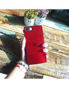 2017年 シャネル 看板アイテム! iPhone8/iPhone7plusケース Chanel 赤 レディース チェーン付き アイフォン5/6Sプラスジャケットケース 人気