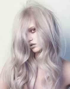 Silvery blonde hair