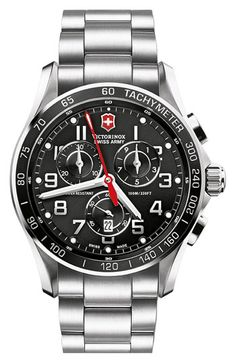 Victorinox Swiss Army® 'Chrono Classic XLS' Stainless Steel Bracelet Watch | Nordstrom