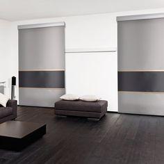Estores enrollables nano screen 1 de #cortinadecor con posibilidad de combinaciones de colores.