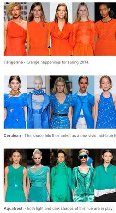 Spring 2014 Color Forecast