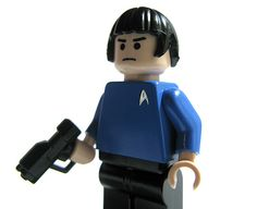 Spock. by LEGO .  He is a VOLCANIAN ;  I have taken Residence in the Island of Volcano , Sicily , in 2006 .   So , I am also a VOLCANIAN ... even if I have round ears ... !!!
