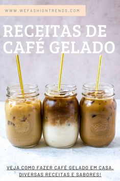 3 ICED COFFEE RECIPES: iced vanilla latte, iced mocha and iced caramel macchiato, and the three homemade syrups you'll make will last in the fridge for more summer coffee drinks! Iced Vanilla Latte Recipe, Vanilla Iced Coffee, Caramel Iced Coffee Recipe, Iced Latte, Recipe For Iced Mocha Coffee, French Press Iced Coffee, Starbucks Iced Coffee, Espresso Coffee, Black Coffee