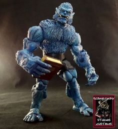 This is a Marvel Legends Beast - All New X-Men Custom Action Figure he was made by Figure Realmer Scarecrow Studios he used the Marvel Legends X-Men Box Set Beast figure happy pinning