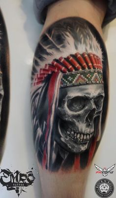 Made by Robert Ermac Tattoo Artists in Chisinau, Moldova Region Haken Tattoos, Hook Tattoos, Cover Up Tattoos, Leg Tattoos, Sleeve Tattoos, Death Tattoo, I Tattoo, Crane, Indian Skull Tattoos