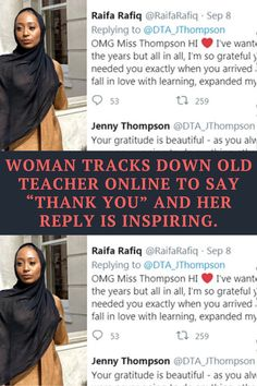 Teachers have the incredibly important job of shaping the minds of tomorrow. These wonderful individuals go above and beyond to not only give their students a good education, but also to help them reach their full potential. As such, they aren't easy to forget! Raifa Rafiq of London, England, will always remember the woman who left a lasting impact on her in high school. And she recently got the chance to thank her!