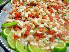 Ceviche Delicioso! Amazing dish, SUPER easy to make!!   (catfish is my fav fish to use, but it can be any other)