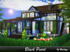 Elegant modern house built on 40x30 lot in Newcrest. Found in TSR Category 'Sims 4 Residential Lots'