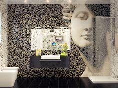 Creative and Great Architectural Designs by Svetlana Nezus: Amusing Decor Mosaic Tile Bathroom Feature Wall Image | Creative Home Idea