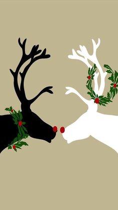 Loving DEER - Tap to see more cute Christmas wallpapers! - @mobile9