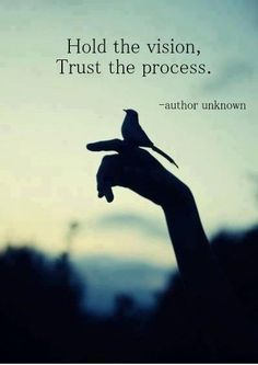 Hold the Vision. Trust the process. You can do this!