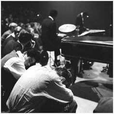 1956. Modern Jazz Quartet in the Concertgebouw in  Amsterdam.  Photo Hans Buter. #amsterdam #1956 #ModernJazzQuartet