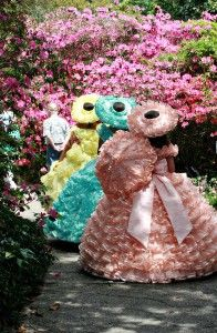 Azalea Trail Maids in Bellingrath Gardens, Mobile, Alabama. Southern Ladies, Southern Belle, Azalea Trail Maids, Mobile Alabama, Sweet Home Alabama, Maid Dress, Down South, Its A Wonderful Life, Spring Garden