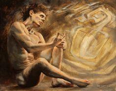 """When Ideas Take Shape"", Leo Plaw, 30 x 24cm, oil on canvas #art #painting #figurativeart"