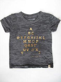 gold star alphabet t-shirt