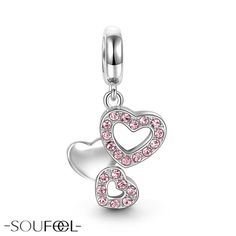 Soufeel Pink Romantic Love Pendant. Choose a gift for your valentine.