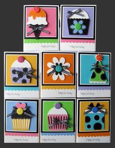 would make a cute gift set- Simple Birthday card ideas