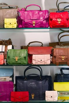 Proenza Schouler PS1 takeover in the perfect array of spring time colors - I want them ALL! Not just fabulous bags anymore, but now iPad cases and zip-around wallets have been added to the mix as well! If only..