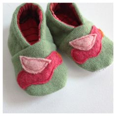 Wool Baby ShoesUpcycledEco Friendly612 MonthsLittle by whimsiedots, $15.00