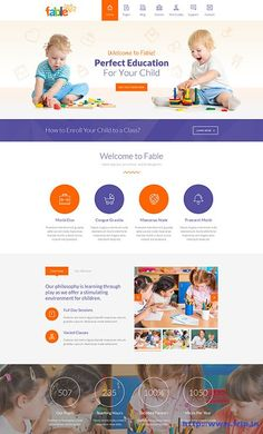 We develop a excellent, professional-looking kindergarten websites with forms, maps, and image galleries plus more. Website Design Layout, Wordpress Website Design, Wordpress Theme Design, Website Design Inspiration, Web Layout, Premium Wordpress Themes, Blog Design, Design Design, Web Design School