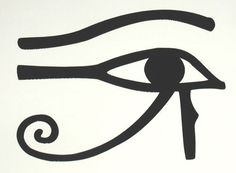 Egyptian Eye of Ra Horus black vinyl decal by sparrowhawk9 on Etsy, $2.50