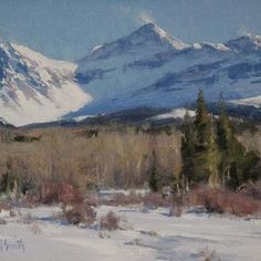"MATT SMITH, ""Cold and Windy"" (oil, 9x12) 25 Jan 2013, FB--Plein-Air Painters of America."