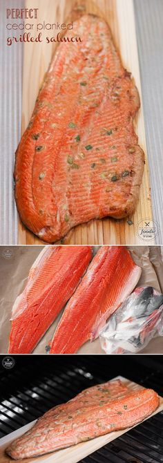 This easy Perfect Cedar Planked Grilled Salmon is wild caught Copper River Salmon marinated in a light Asian marinade grilled into a healthy summer dinner. #cedarplank #salmon #healthy #omega3