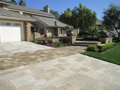 West Hills Masonry - Brea, CA, United States. Beautiful custom driveway and walkway in Tustin, Ca