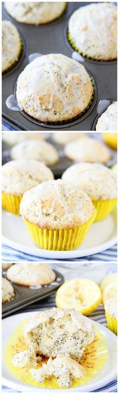 Lemon Poppy Seed Muffins on twopeasandtheirpod.com LOVE these lemon muffins!