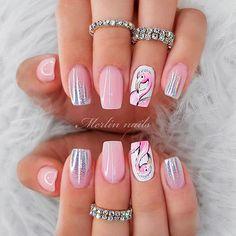 Nail Art Designs, Crazy Nail Designs, Ombre Nail Designs, Short Nail Designs, Acrylic Nail Designs, Gorgeous Nails, Pretty Nails, Pink Nails, Gel Nails